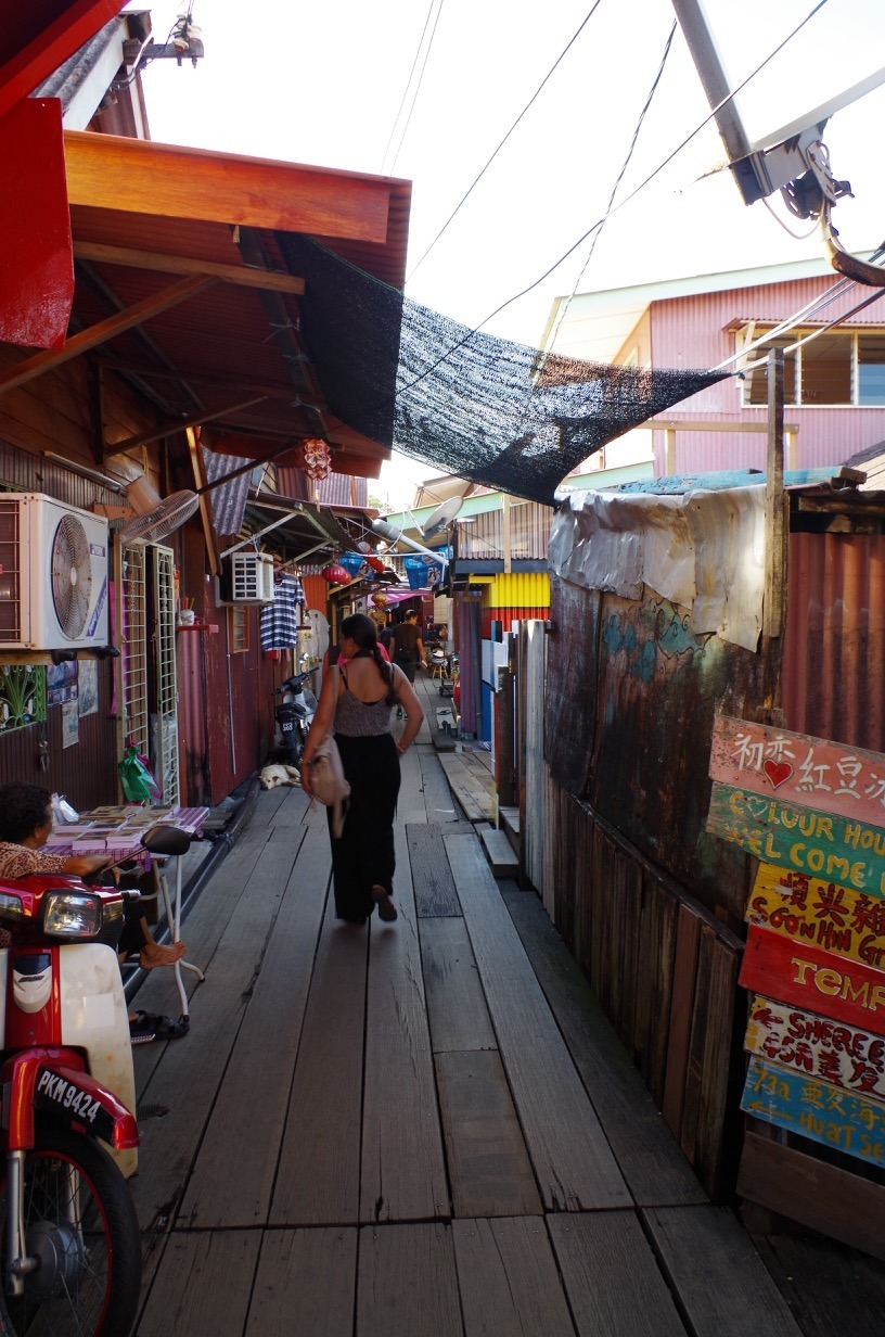 Penang George Town street art - Lisa explores Chew Jetty