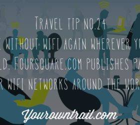 YOUROWNTRAIL TRAVEL TIP NO.24
