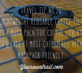 YOUROWNTRAIL TRAVEL TIP NO.25