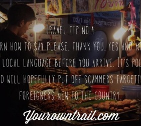 Yourowntrail Travel Tips No 4