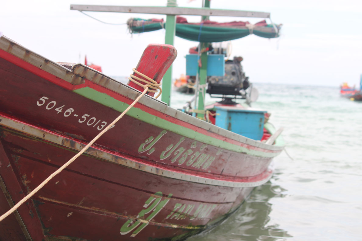 Koh Tao, Thailand Photo Essay - A fishing boat docked at the beach
