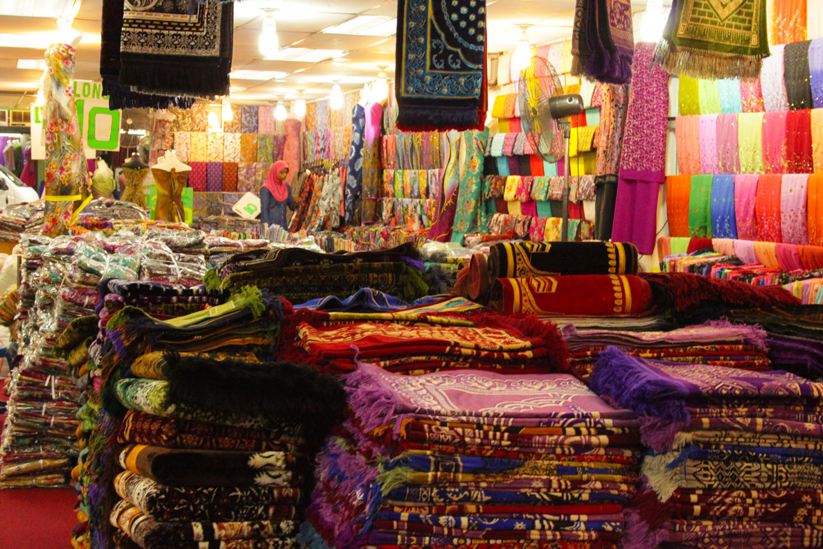 A fabric shop in Little India