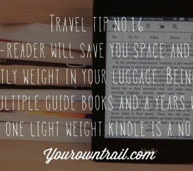 YOUROWNTRAIL TRAVEL TIP NO.16