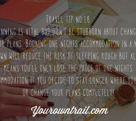 Yourowntrail Travel Tips No 18