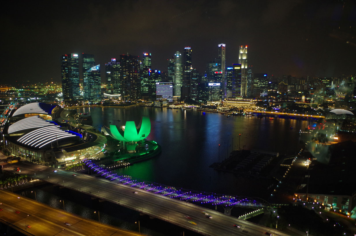 48 hours in Singapore - Singapore from the Flyer