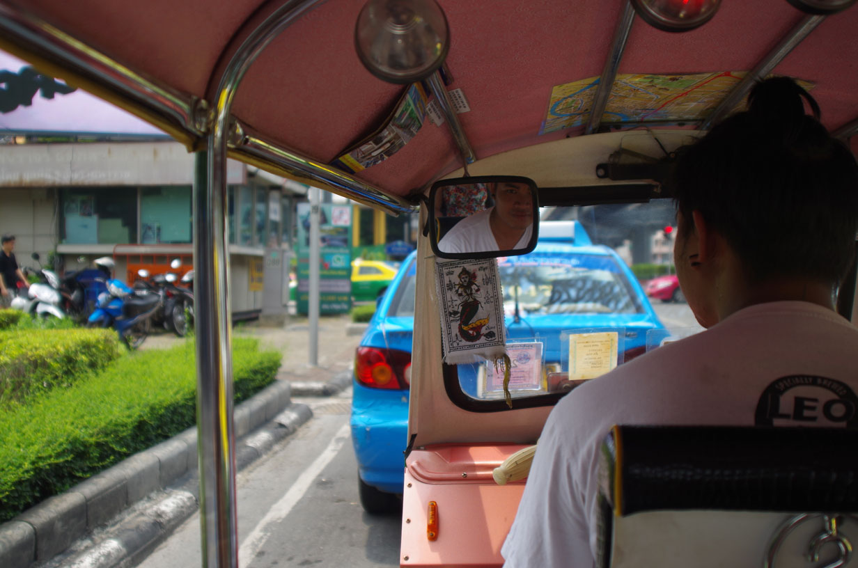 The Bangkok Tuk Tuk Scam - This was our first driver and he was really friendly, we didn't even realise it was a scam!