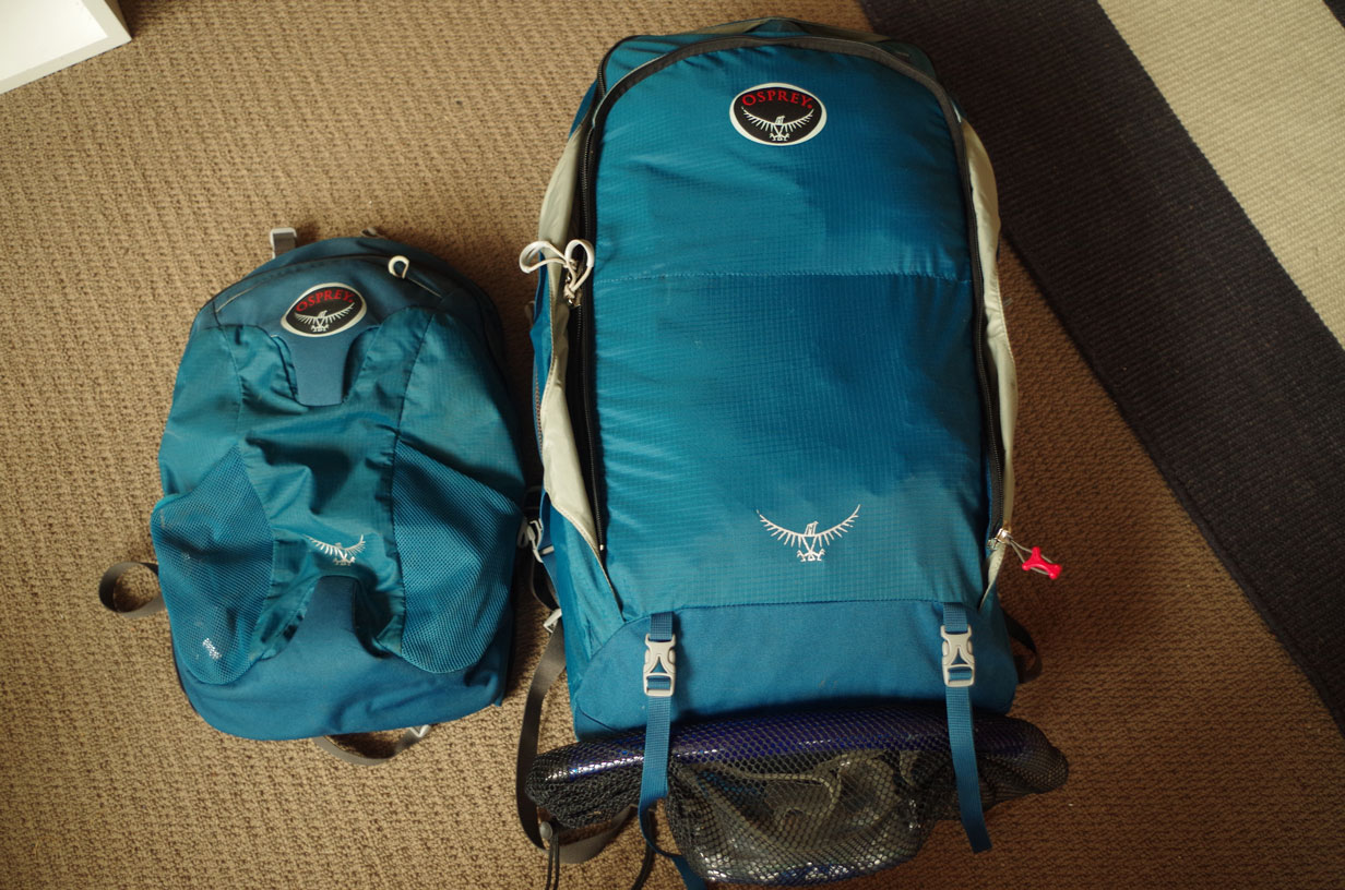 Choosing a backpack for travelling - I love my travelpack