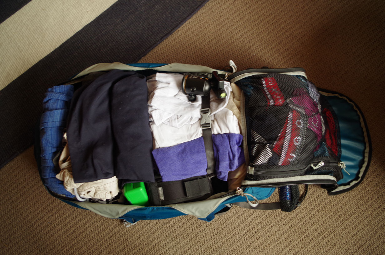 Choosing a backpack for travelling - Size IS important