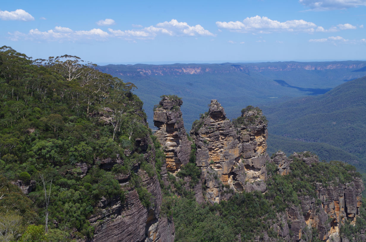 Visiting the Blue Mountains by Train  - The famous Three Sisters