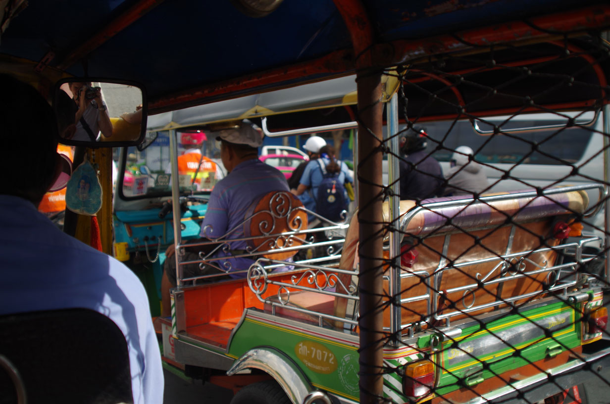 The Bangkok Tuk Tuk Scam - Our second ride, much less friendly than first. He got quite angry when we refused to go to another jewellery store