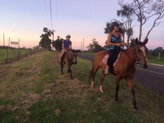 The Criss' took us horse riding...