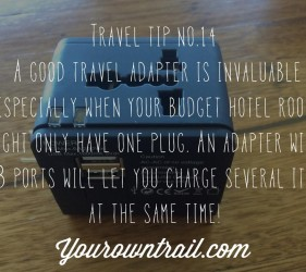 Yourowntrail Travel Tips No 14