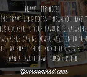 Yourowntrail Travel Tips No 32